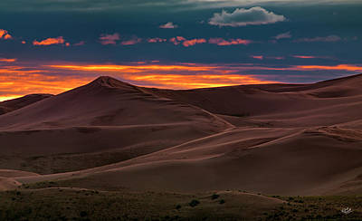 Photograph - Dune Sunset by Leland D Howard