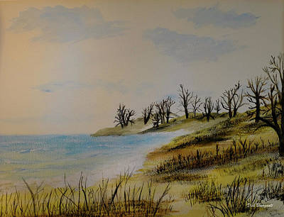 Painting - Dune Trees by Dick Bourgault