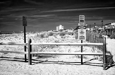 Photograph - Dune Warning At Ocean City by John Rizzuto