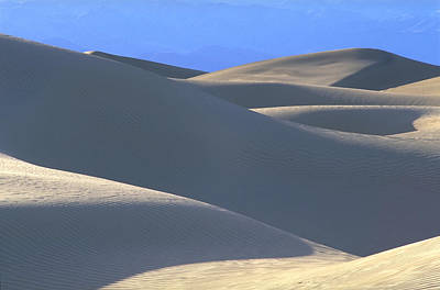Dunes And Blue Mountains Art Print by John Farley