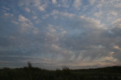 Photograph - Dunes And Clouds by Christopher Kirby
