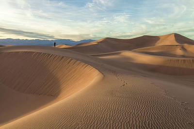 Photograph - Dunes And Hiker by Jonathan Nguyen