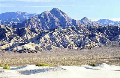 Colorful People Abstract Royalty Free Images - Dunes and mountains. Death Valley, California Royalty-Free Image by David Lyons
