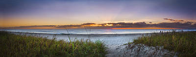Photograph - Dunes At Dawn Panorama by Debra and Dave Vanderlaan