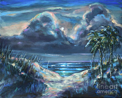 Painting - Dunes At Nite by Linda Olsen