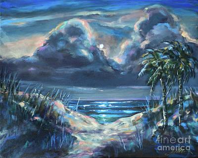 Painting - Dunes At Nite by Linda Olsen