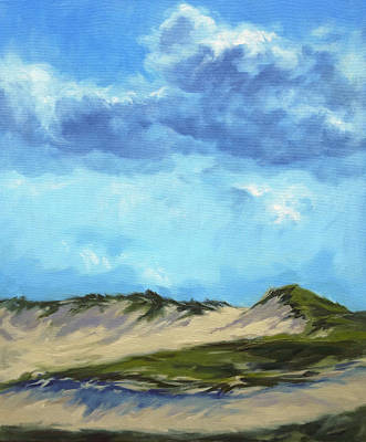 Cape Cod Painting - Dunes At Plum Island by Lisa H Ridabock