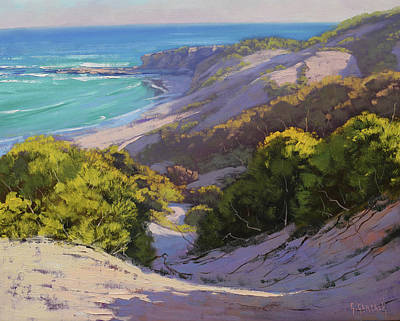 Impressionist Beach Painting - Dunes At Soldiers Beach by Graham Gercken