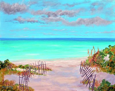Bahamas Pier Painting - Dunes Beach 2 by Ken Figurski
