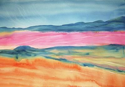 Art Print featuring the painting Dunes by Ellen Levinson