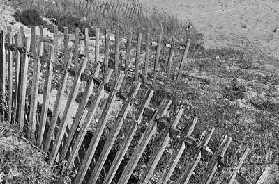 Monochrome Photograph - Dunes Fence In Monochrome by Angelo DeVal