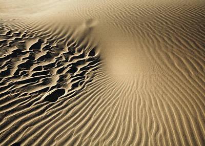 Dunes Footprints Art Print