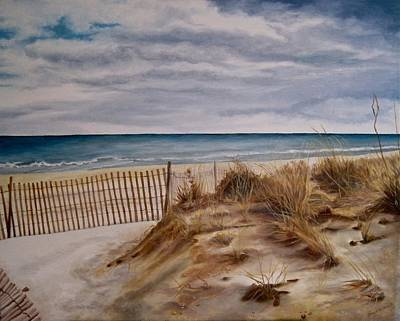 Seagrass Painting - Dunes by Janice Petrella-Walsh