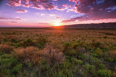 Colorado Sunset Photograph - Dunes Last Night by Aaron Bedell