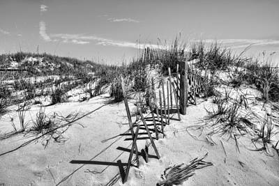 Photograph - Dunes Of Fort Morgan Bw by JC Findley
