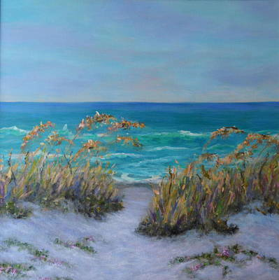 Painting - Dunes Path Ocean Painting Part 1 by Amber Palomares