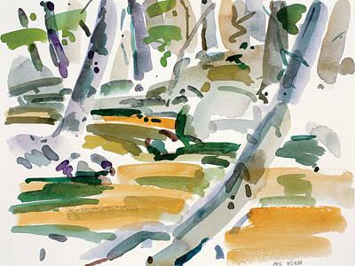 Spot Of Tea - Dunfield-Creek-_22-9x12 by Arthur Kvarnstrom