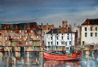 Painting - Dungarvan Harbour  Waterford by Val Byrne