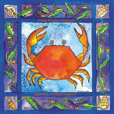 Corwin Painting - Dungeness Crab by Pamela  Corwin