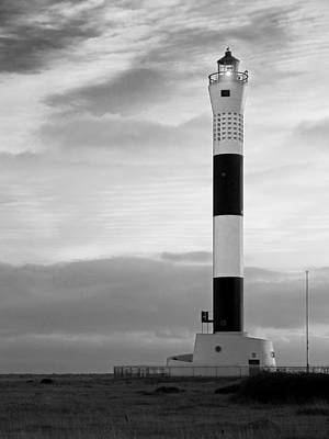 Photograph - Dungeness Lighthouse In Mono by Gill Billington