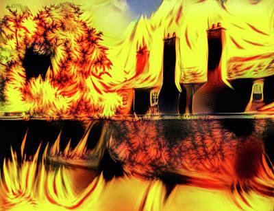 Digital Art - English Building Fractal Flames Edition by Matthias Hauser