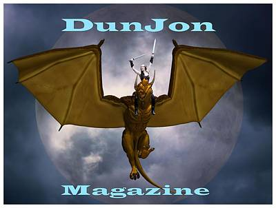 Photograph - Dunjon Ezine T-shirt Logo 2 by Jon Volden
