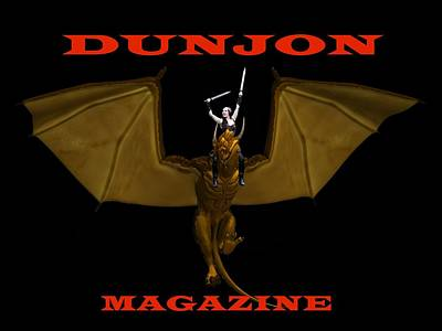 Photograph - Dunjon Magazine Black Bg by Jon Volden