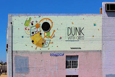 Dunk With Oreo Art Print by Viktor Savchenko