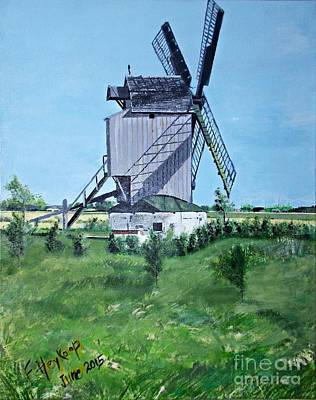 Painting - Dunkerque Windmill North Of France by Francine Heykoop