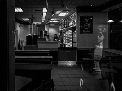 Photograph - Dunkin Donuts Window Reflection by Bob Orsillo
