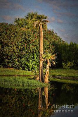 Oleander Photograph - Dunlawton Pond by Deborah Benoit