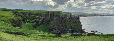 Fantasy Royalty-Free and Rights-Managed Images - Dunluce Castle 1857 by Teresa Wilson