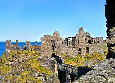 Photograph - Dunluce Castle Ruins by Nina Ficur Feenan