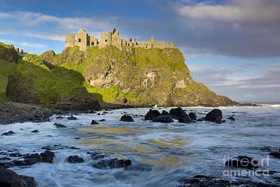 Photograph - Dunluce Castle Waves by Brian Jannsen