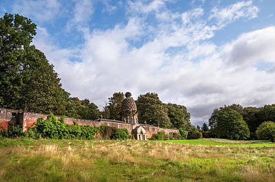 Photograph - Dunmore Park With Dunmore Pineapple Building. Scotland by Jenny Rainbow