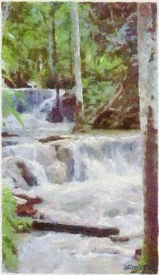Dunn River Falls Print by Jeff Kolker