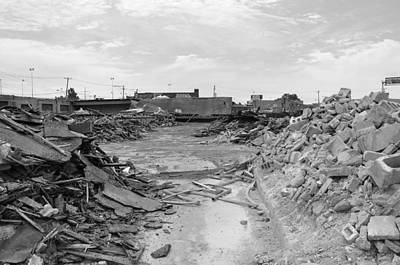 Old Montreal Photograph - Dunn Street Demolition by Reb Frost