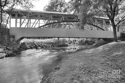Photograph - Dunning Creek Under The Bridge Black And White by Adam Jewell