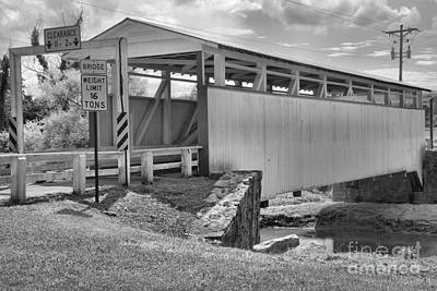 Photograph - Dunnings Creek Crossing Black And White by Adam Jewell