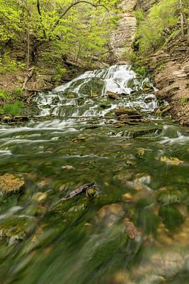Priska Wettstein Pink Hues - Dunnings Springs Waterfall 2 B by John Brueske