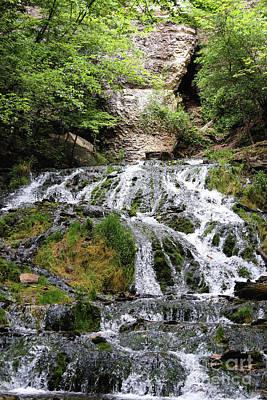 Photograph - Dunning's Springs Waterfall Decorah Iowa  by Kari Yearous