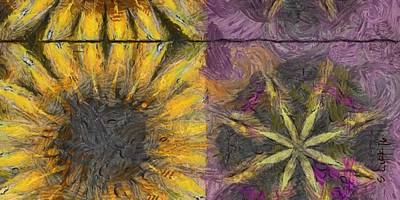 Dunno Trance Flowers  Id 16165-012222-33130 Art Print by S Lurk
