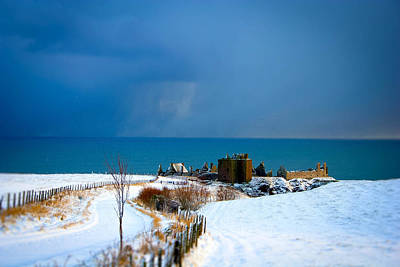 Photograph - Dunnottar Castle In Snow by Carmen Tosca