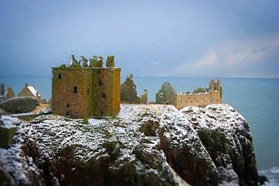 Photograph - Dunnottar Castle In Winter by Carmen Tosca