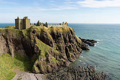Photograph - Dunnottar Castle Scotland Postcard by Georgia Mizuleva