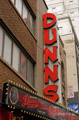 Jewish Montreal Photograph - Dunn's Restaurant Montreal by John  Mitchell
