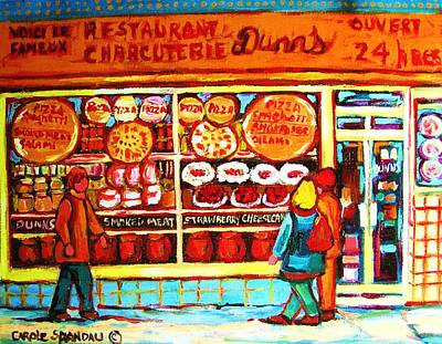 Store Window Display Painting - Dunn's Treats And Sweets by Carole Spandau