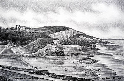 Sightseeing Drawing - Dunraven Bay by Andrew Read