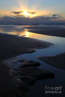 Abstract Beach Landscape Photograph - Dunraven Bay Sunset Wales by James Brunker