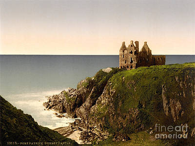 Painting - Dunskey Castle by Celestial Images